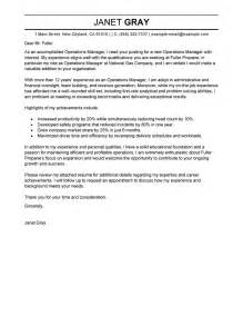 Cover Letter For Operations by Operations Manager Cover Letter Exles Management Cover Letter Sles Livecareer