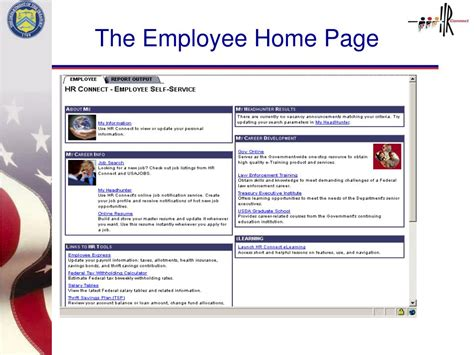 ppt overview of hr connect s employee self service and