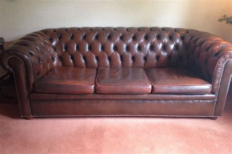 Used Brown Leather Sofa Traditional Brown Leather Sofa Lexterten Used Damage To Leather On One Armrest In