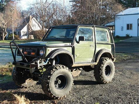 jeep jimny samurai with exocage zuk off road trailer cing