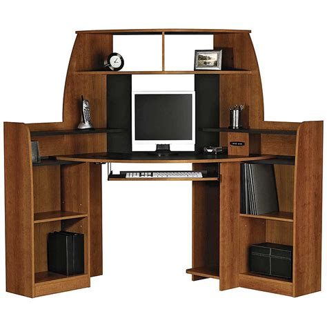 Corner Workstation Desk With Hutch Review And Photo Corner Workstation Desk With Hutch