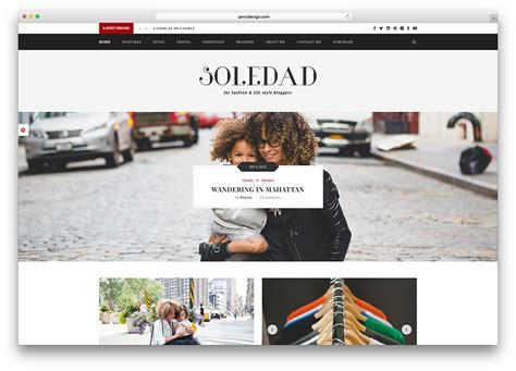 blogger themes tumblr free 43 best fashion blog magazine wordpress themes 2018