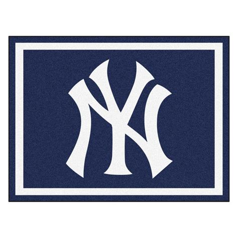 New York Yankees Area Rug Fanmats Mlb New York Yankees Navy Blue 8 Ft X 10 Ft Indoor Area Rug 17429 The Home Depot