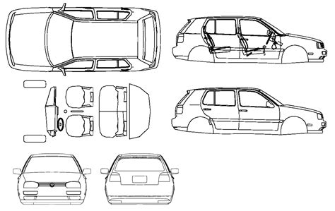 vehicle diagrams car blueprints volkswagen