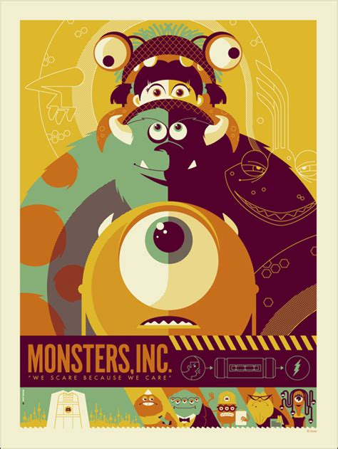 design poster tumblr monsters inc mondo poster by tom whalen collider