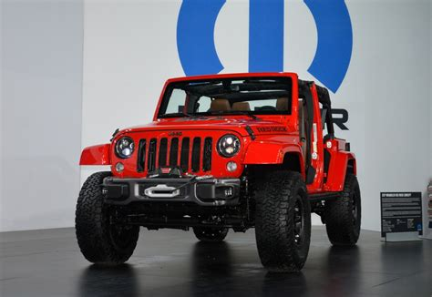 jeep cars red jeep wrangler red rock concept rocks sema 2015