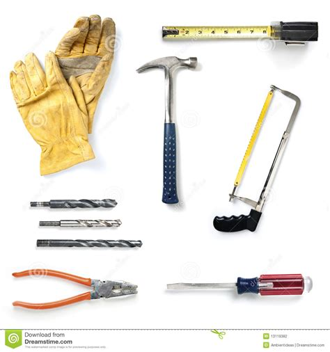 home improvement tools collection stock photography