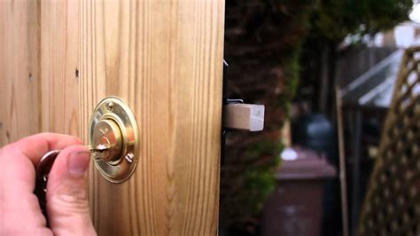 backyard gate lock lockable garden gate fasci garden
