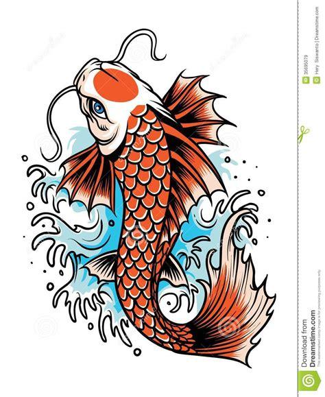 tatuaggio del pesce di koi immagini stock libere da