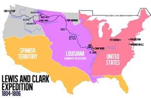 Lewis And Clark Route Map by Explorers For Kids Lewis And Clark
