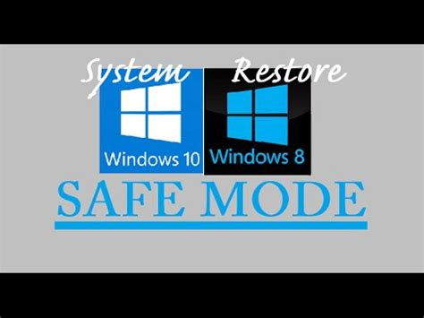 how to system restore safe mode windows 10 8 hp dell toshiba lenovo asus acer command prompt