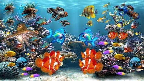 www fish live wallpaper fish tank moving desktop backgrounds aquarium colors