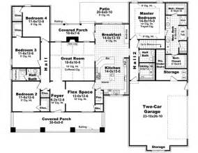 2 Story House Plans With Master On Main Floor by Craftsman Style House Plans 2400 Square Foot Home 1