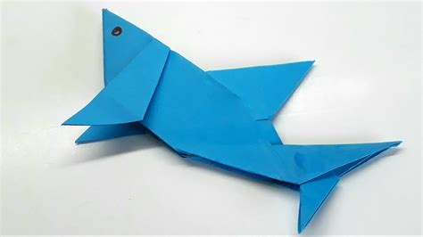 baby shark origami fold origami tutorial how to fold an easy paper origami