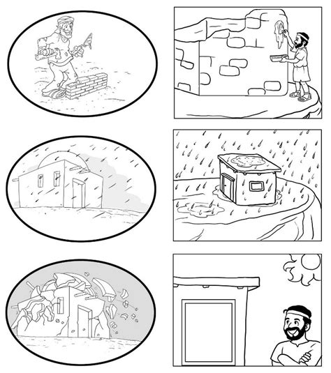 coloring pages house on the rock house on the rock parable of the wise and the foolish