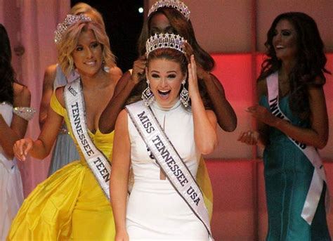 Miss Tennessee Smith Crowned New Miss Usa by Miss Cumberland Stephens Crowned Miss Tennessee