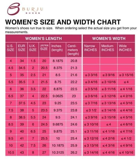 Shoe Size Chart Extra Wide | use the shoe width chart and get your perfect size shoe