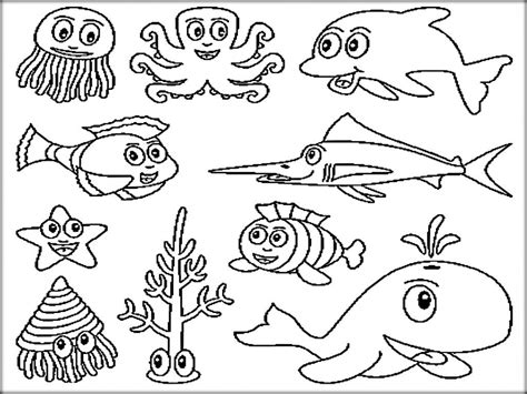 ocean coloring pages for preschool ocean coloring pages free printable beach animals full