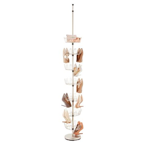 shoe tree storage nickel floor to ceiling shoe tree the container store