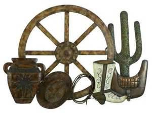 cowboy s wagon wheel metal wall farmhouse artwork