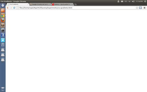 Google chrome not rendering the background gradient at