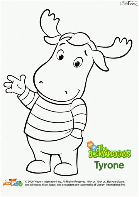 Backyardigans Coloring Pages Free Az Coloring Pages The Backyardigans Coloring Pages