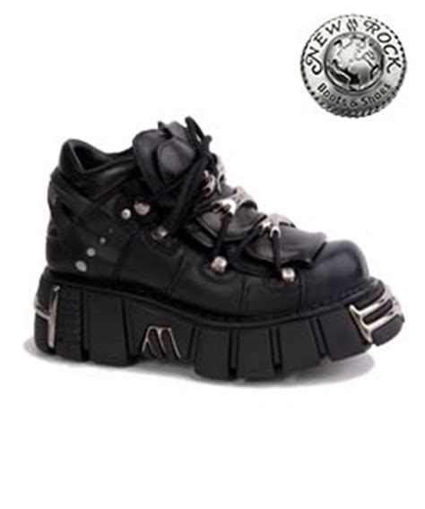 Wedges Polos M106 new rock platform shoes m106 s1 black new rock shoes and boots