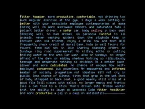 radiohead testi tradotti fitter happier radiohead testo e