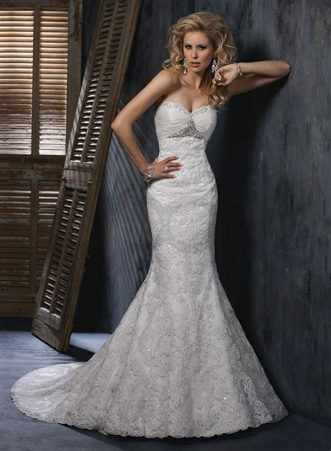 Fit and Flare Wedding Dress Picture Collection