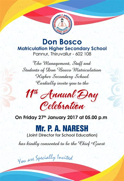 Invitation Letter Format For Annual Day invitation card annual day gallery invitation sle and