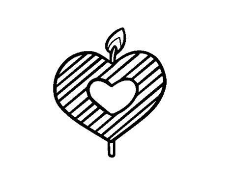 candele a forma di cuore disegno di candela a forma di cuore da colorare acolore
