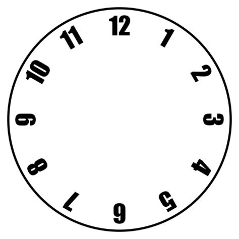 free clock face template clipart best