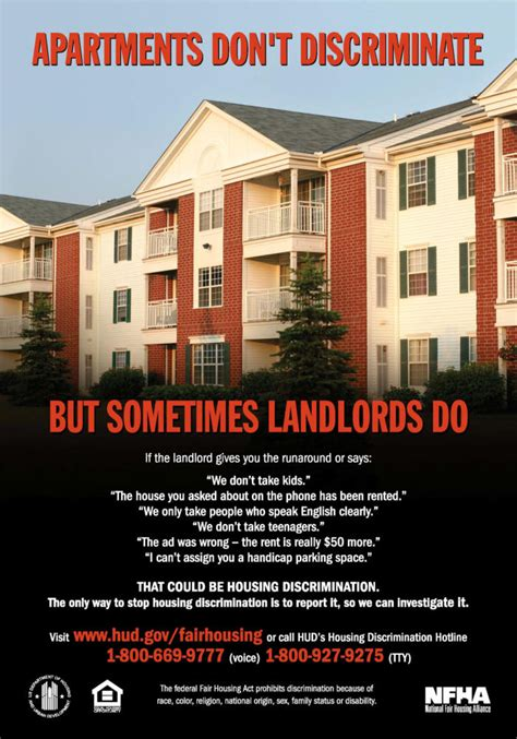 Housing Discrimination Exles by Fair Housing Resources Poster Gallery