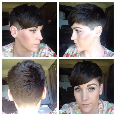 womens short hair, undercut, clipper cut, fade, fashion, fresh, cleaned up   tapered   Pinterest