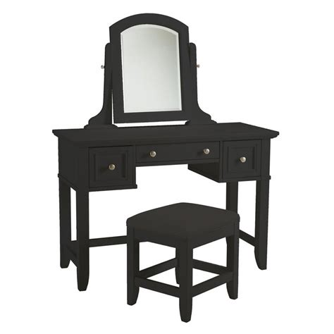 black vanity sets for bedrooms home styles bedford bedroom vanity table black bedroom