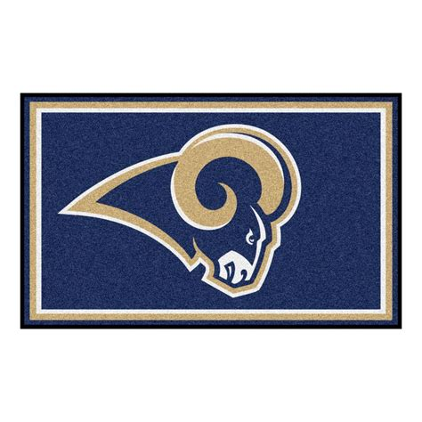 fanmats los angeles rams 4 ft x 6 ft area rug 6608 the
