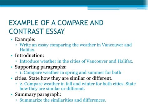Compare And Contrast Essay Introduction Exle by Types Of Essays