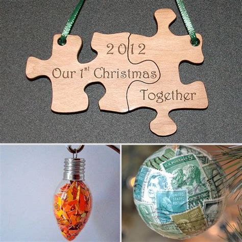 diy ornaments for newlyweds aww for couples or even babies diy ornaments and babies