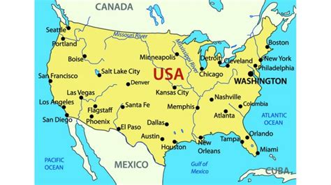 united states map with rivers and oceans physical map united states and canada preparation for
