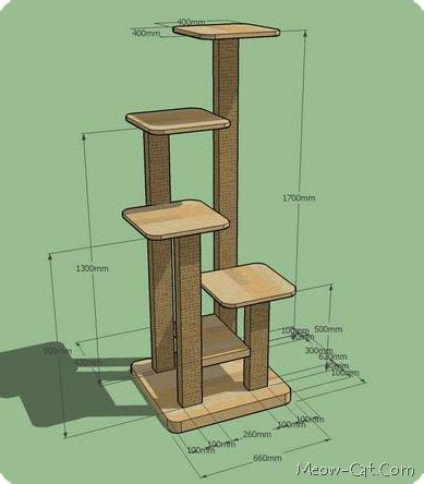 cat tree house plans free 6 free plans for cat tree meow cat com