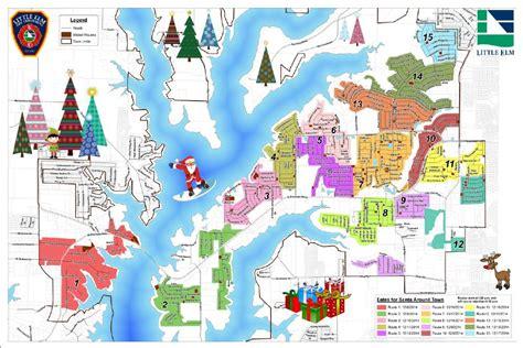 santa map town of elm tx official website santa around town
