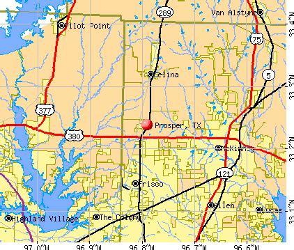 prosper tx 75078 profile population maps real