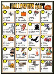 halloween themed quiz questions english worksheet halloween quiz key included