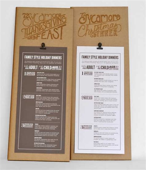 menu layout ideas 33 creative table menu designs for restaurants dise 241 os y