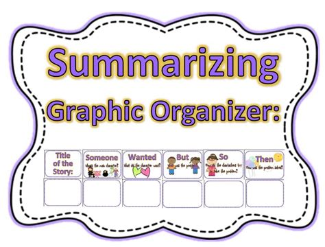 picture books to teach summarizing any book into this graphic organizer to teach to