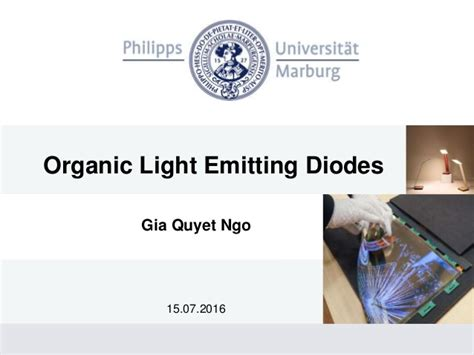 organic light emitting diodes the use of earth and transition metals organic light emitting diodes oled