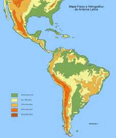 south america physical map size physical and hydrographic map of america size