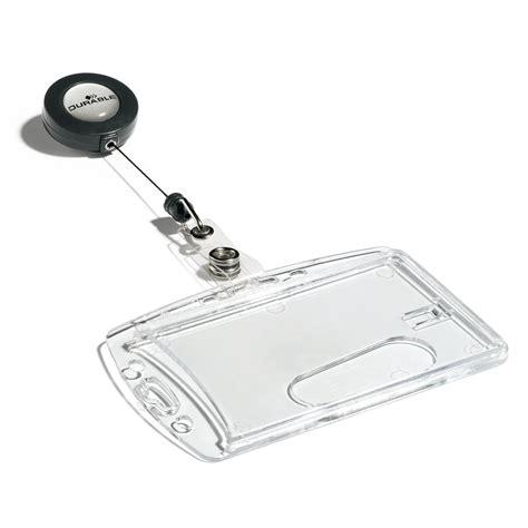 porta badge plastica durable bo 238 te de 10 porte badges de s 233 curit 233 avec