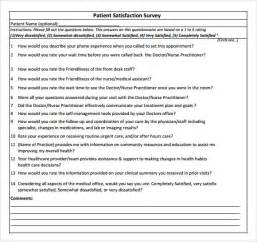 dental patient satisfaction survey template patient satisfaction survey templates