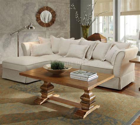 karlee sectional sofa  coaster  linen fabric